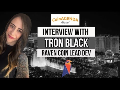 Live with Tron Black Lead Dev of Raven Coin at Coin Agenda 2019