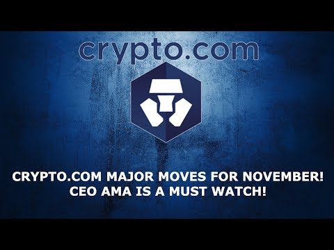 CRYPTO.COM MAJOR MOVES FOR NOVEMBER! CEO AMA IS A MUST WATCH!
