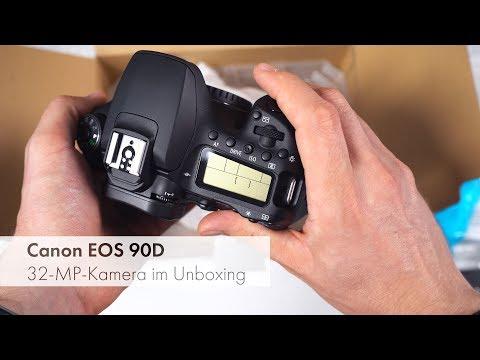 Canon EOS 90D | 32 Megapixel APS-C-Kamera im Unboxing [Deutsch]
