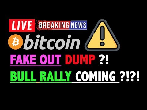 BITCOIN: FAKE OUT DUMP BEFORE BULL RALLY?❗️LIVE Crypto Analysis TA & BTC Cryptocurrency Price News