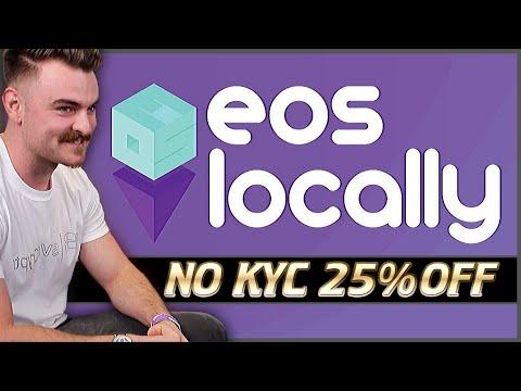 EOSlocally – Buy EOS With No KYC & 25% Off Fees! – Peer-To-Peer EOS Exchange!