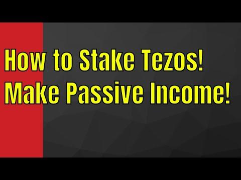 How to Stake Tezos! | Make Passive Income!