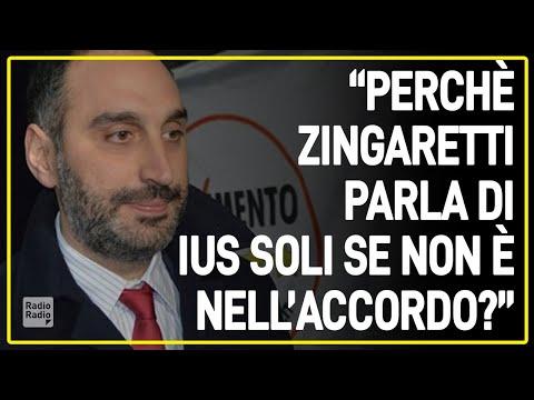 """Michele Gubitosa (5 Stelle) contro Zingaretti: """"Dire che lo ius soli sia una priorità è offensivo"""""""