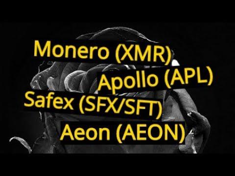 New Privacy Coin Era? Monero (XMR), Apollo (APL), Safex (SFX/SFT), AEON