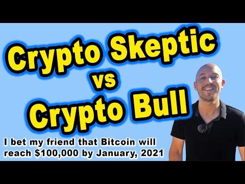 🔵 Crypto Skeptic vs Crypto Bull – I Bet my Friend that Bitcoin will Reach $100,000 by Jan 1, 2021