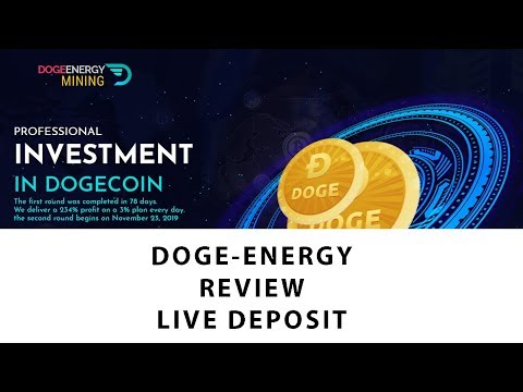 DOGE-ENERGY.COM . NEW MINING DOGECOIN . REVIEW & LIVE DEPOSIT