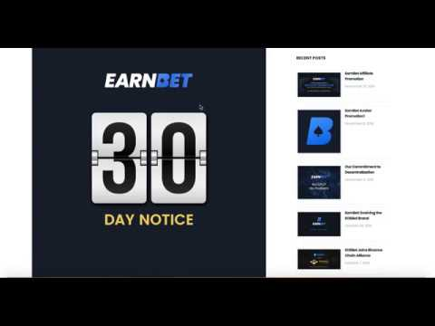 EOS 30 Day Notice EarnBet   EOS 21 Block Producers