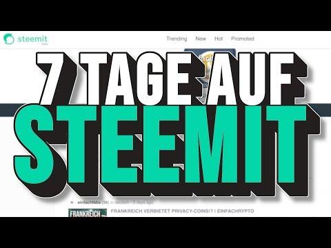 MEINE ERSTEN 7 TAGE AUF STEEMIT & DTUBE | EINFACHKRYPTO