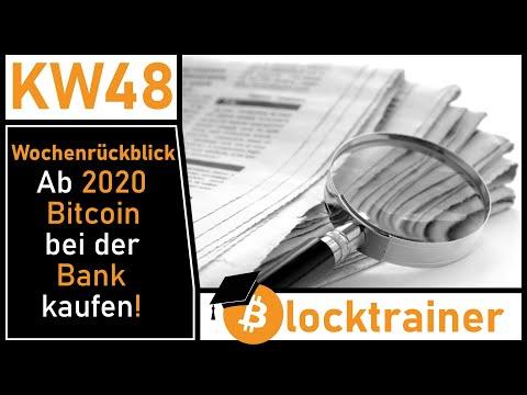 Wochenrückblick KW48: Ab 2020 Bitcoin bei der Bank kaufen | IOTA-Hyperledger | Cardano Snapshot