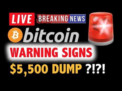 BITCOIN ⚠️Signs Pointing to $5,500 DUMP? ⚠️❗️LIVE Crypto Analysis TA & BTC Cryptocurrency Price News