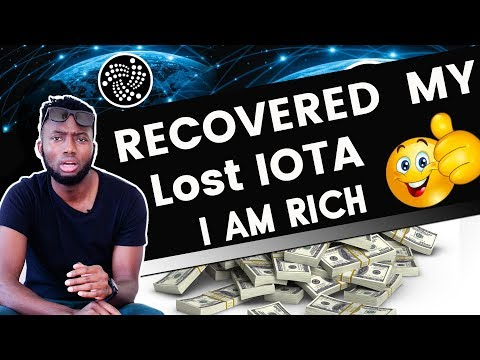 Recovered My Lost IOTA | I am Rich