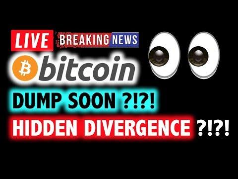 BITCOIN 🚨HIDDEN Divergence = DUMP SOON? 🚨❗️LIVE Crypto Analysis TA & BTC Cryptocurrency Price News