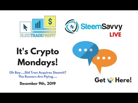 It's Crypto Mondays – Wait….Did Tron Just Acquire Steemit?