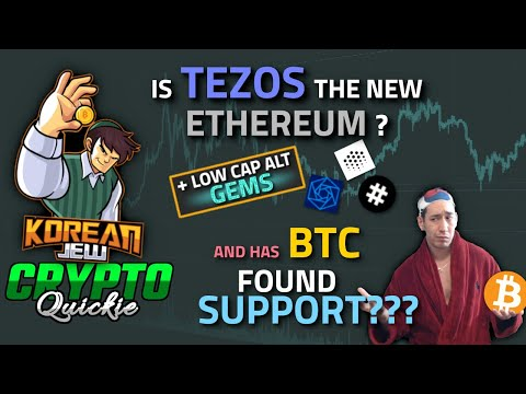 Is Tezos the new Ethereum? Has Bitcoin found suppor? Vechain Hacked t+Low cap alt Gems TA