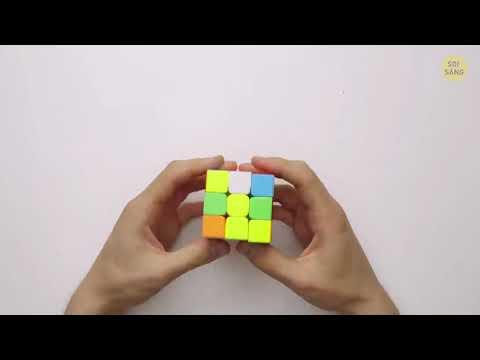 Cách xếp rubit 3×3 cực dễ phải hiểu thực toán nữa