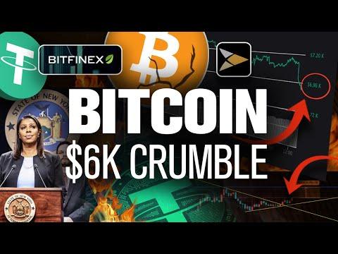 Bitcoins Fall to $6k Begins! Bitfinex-Tether the Culprits?