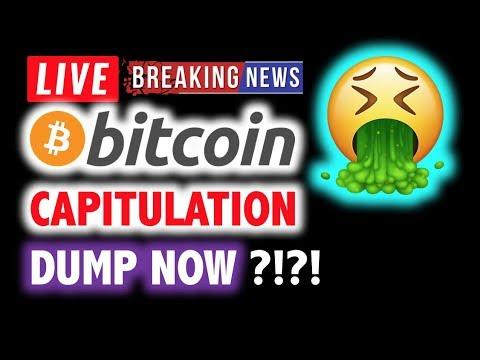 BITCOIN ⚠️CAPITULATION DUMP HAS STARTED ???❗️LIVE Crypto Analysis TA & BTC Cryptocurrency Price News