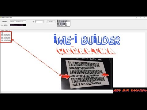 İMEİ BUİLDER v1.0 / QCN RESTORE İMEİ /QCN ReBuilder Tool !!!
