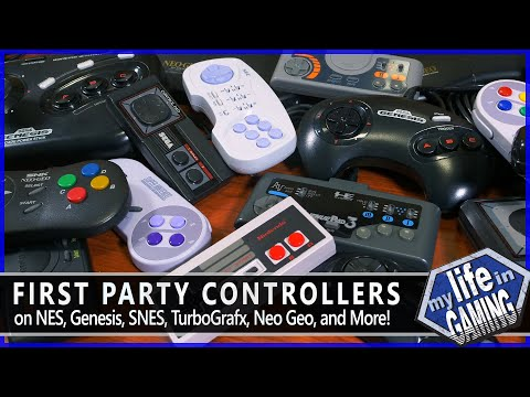 First Party Controllers – NES, SNES, Genesis, TG-16, Neo Geo, and More! / MY LIFE IN GAMING