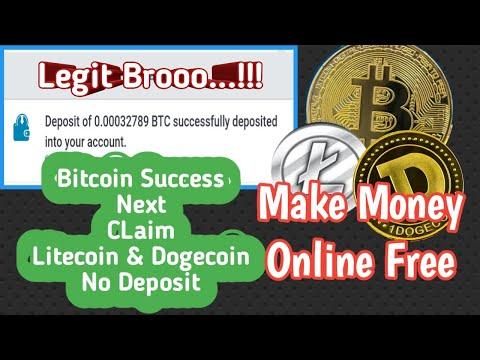 Legit Brooo..!!! Free Make Money Online | Bitcoin, Litecoin And Dogecoin