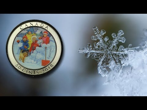 2018 Canada 50 Cents Snowball Fight Lenticular 3D Coin Happy Holidays Merry Christmas