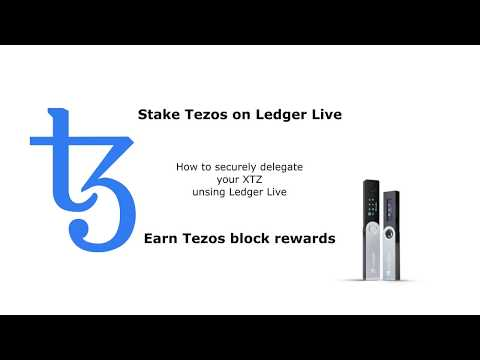 Easiest way to stake Tezos on Ledger Live – Passive income by delegating Tezos cryptocurrency