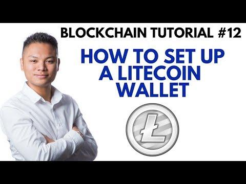 Blockchain Tutorial #12 – How To Setup A Litecoin Wallet