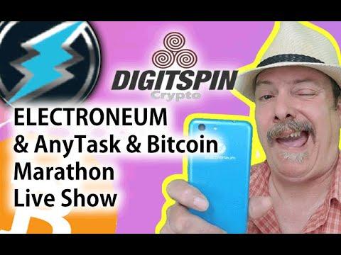 Electroneum & AnyTask – Bitcoin – Sat Night Live Stream