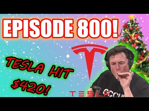 BITCOIN LIVE ❄❄ TESLA HIT $420! ❄❄ AMD GOD STOCK! Episode 800 – Crypto Technical Analysis