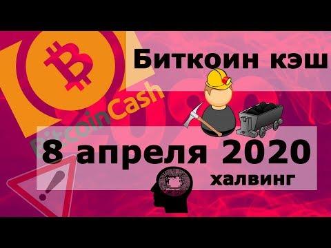Биткоин кэш (Bitcoin Cash) 8 апреля 2020 халвинг. Что с сетью?