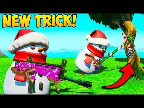 *NEW* SNOWMAN SHOOT + FARM TRICK!! – Fortnite Funny Fails and WTF Moments! #785