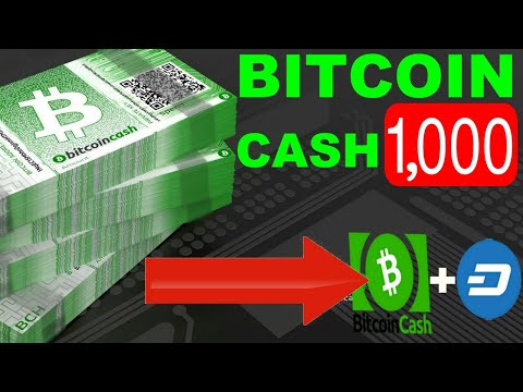 Bitcoin Cash (BCH) Hitting $1,000 | Bitcoin Cash + Dash