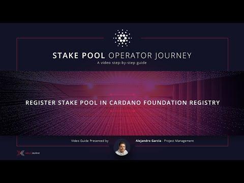 Part 5: Register stake pool in Cardano Foundation registry