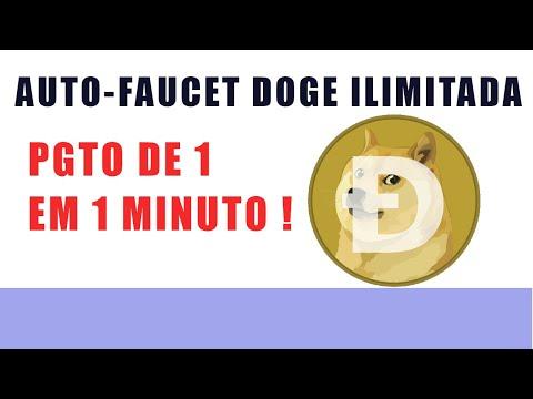 AUTO FAUCET DOGE ILIMITADA PGTO DE 1 EM 1 MINUTO