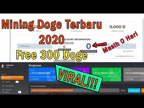 VIRAL WEB MINING DOGE COIN TERBARU 2020 | FREE 300 DOGE