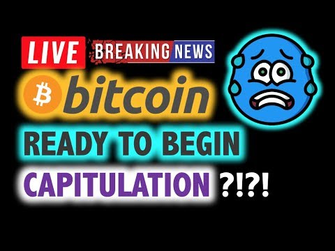 BITCOIN 💥Ready to Begin CAPITULATION? 💥❗️ LIVE Crypto Analysis TA & BTC Cryptocurrency Price News