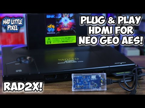 Neo Geo AES The Best Plug & Play HDMI Solution! No Modding Required! The RAD2X!
