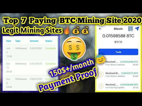 Top 7 Paying BTC Mining Site 2020 | 100% Legit Mining Site | Free BTC mining Site Payment Proof 2020