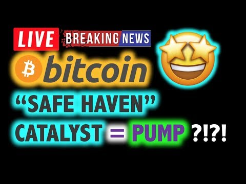 "BITCOIN 💥""SAFE HAVEN"" CATALYST = PUMP? 💥❗️ LIVE Crypto Analysis TA & BTC Cryptocurrency Price News"