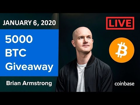 🔴Coinbase Live interview trading with Brian Armstrong +5000 Bitcoin BTC event🔴