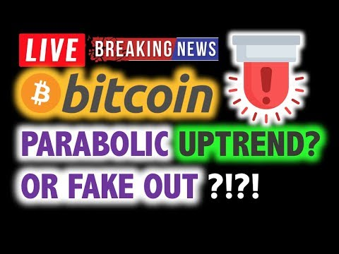 BITCOIN 💥PARABOLIC Uptrend or FAKEOUT? 💥❗️ LIVE Crypto Analysis TA & BTC Cryptocurrency Price News