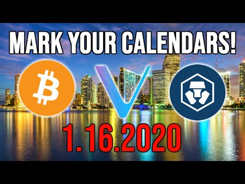 CRYPTO HOLDERS.. BE READY FOR JANUARY 16TH!! BITCOIN ~ VECHAIN ~ CRYPTO.COM