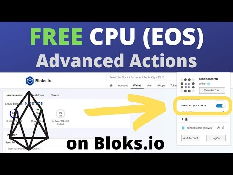 Free EOS CPU Advanced Actions on Bloks (DAPP Staking)