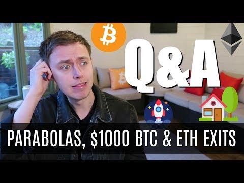 Parabolas, $1000 Bitcoin & ETH Exit Strategies | Crypto Q&A Jan 2020