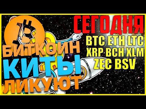 Прогноз по Биткоин, BTC, ETH, LTC, XRP, XLM, BCH, ZEC, BSV на сегодня! Шоу должно продолжаться!