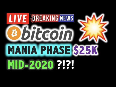 BITCOIN 💥MANIA PHASE in Mid-2020? $25K? 💥❗️LIVE Crypto Analysis TA & BTC Cryptocurrency Price News