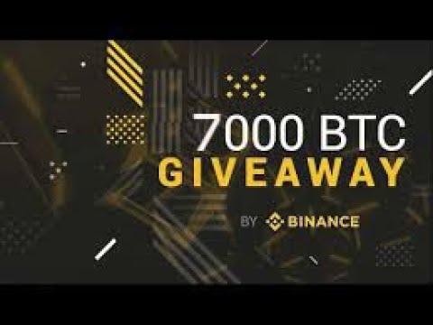 Binance Global AirDrop 7 000 Bitcoin BTC
