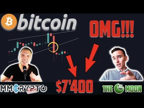 OMG!!! BITCOIN CRASHING to $7'400 RIGHT NOW!!? w. The Moon Carl!!!