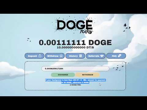 DogeToday | Cloud Mining Dogecoin | Reviews?