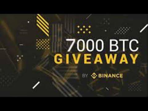 Binance WorldWide Price prediction & Event with 7 000 Bitcoin BTC